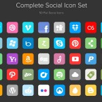 Complete social icons set