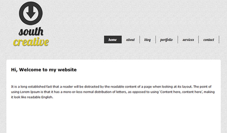 how to create a website header in html