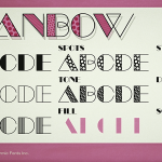 Manbow Solid and Stripe font