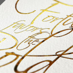 Create a gold foil text effect