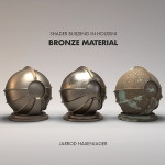 Build bronze materials and shaders in Houdini