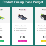 Product Pricing Plans Widget