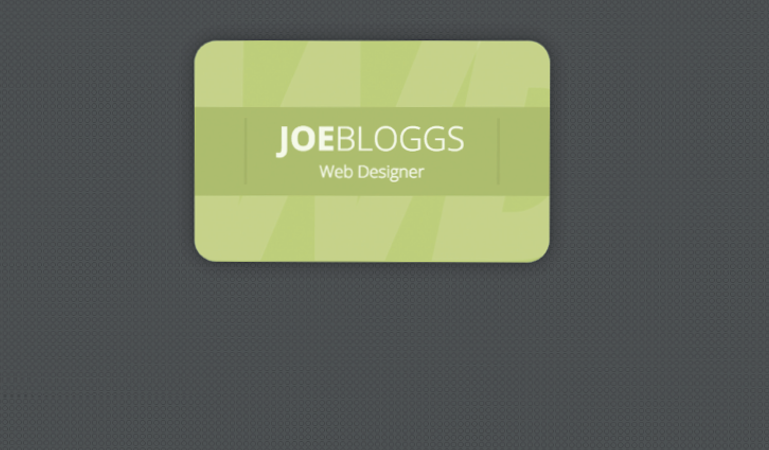 Create a business card flip effect with CSS | FileSilo co uk