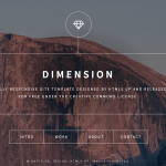 Dimension responsive template