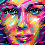 Create an abstract brush portrait