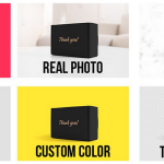Real photo product box mockup actions