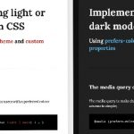 Implement light or dark mode in CSS