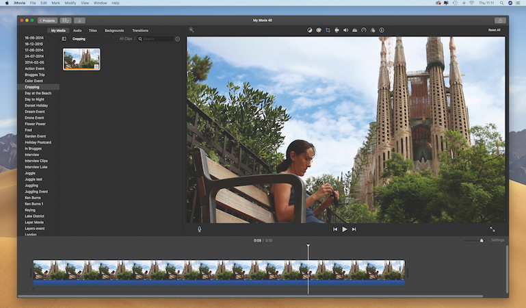 Cropping and composition in iMovie