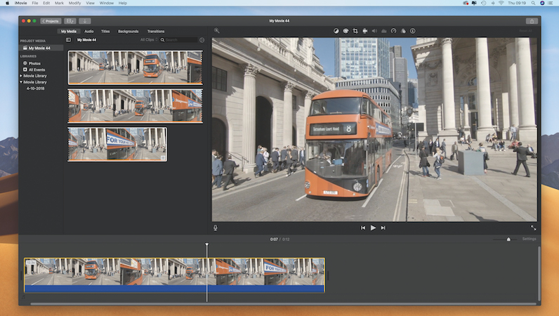 Create dynamic driving sequences in iMovie
