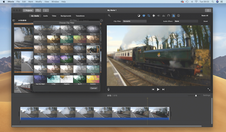 Create a still from 4K footage in iMovie