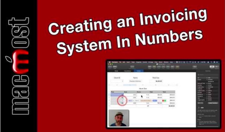 Creating a billing and invoicing system in Numbers