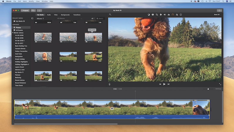 Retime your footage in iMovie