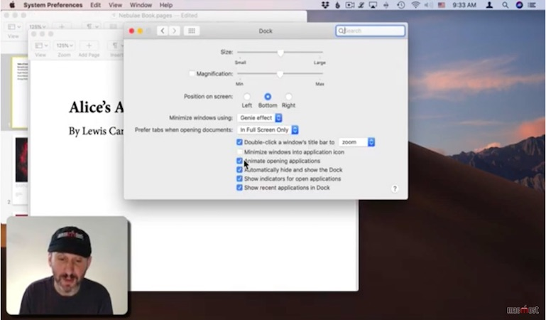 Use Hide instead of minimise on your Mac