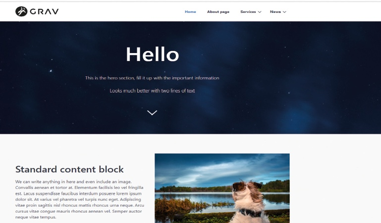Get started with Grav, the flat file CMS