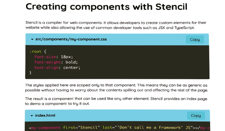 Build a formatting component using Stencil