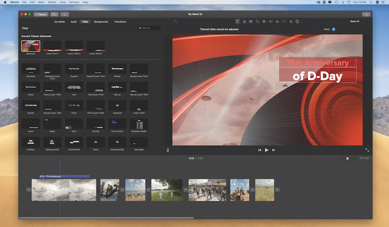 Produce a TV news report in iMovie