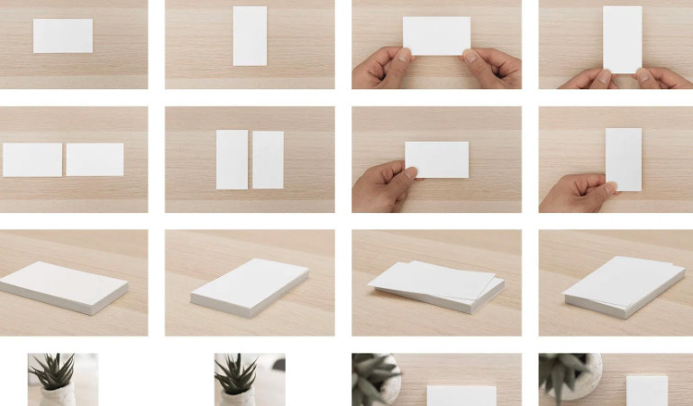 16 Minimalist business card mockups