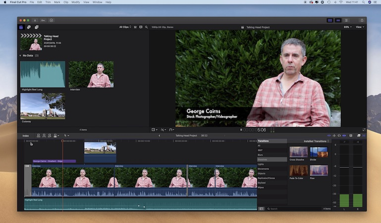 Produce a talking heads interview in Final Cut Pro X