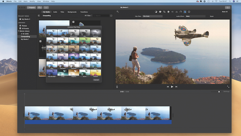 Creative compositing in iMovie