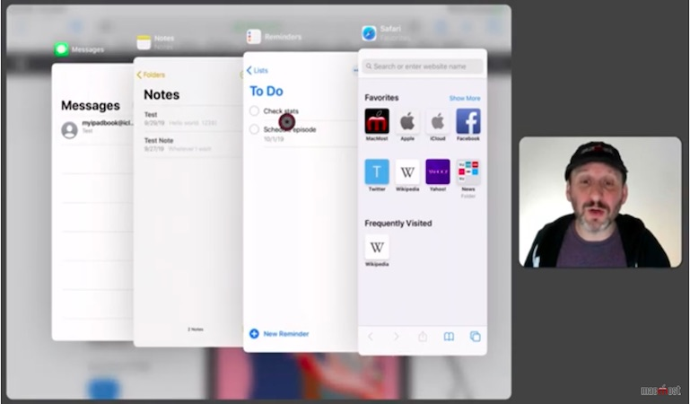 Using multiple apps at the same time with multitasking in iPadOS