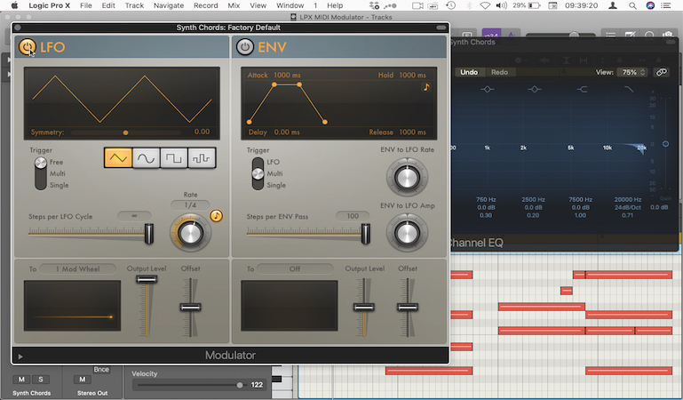 Automated EQ sweeps with Logic's Modulator