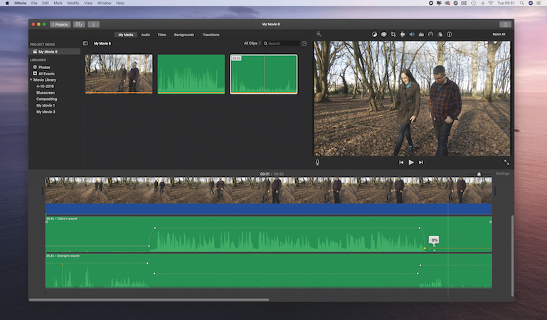 How to record better quality sound iMovie