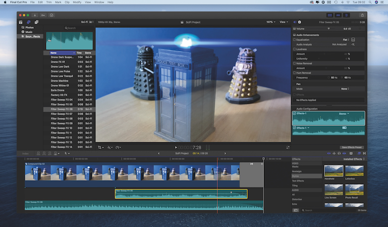 Produce sci-fi special effects with iMovie