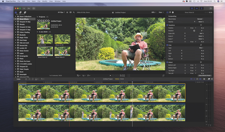 Create ghostly effects in Final Cut Pro X