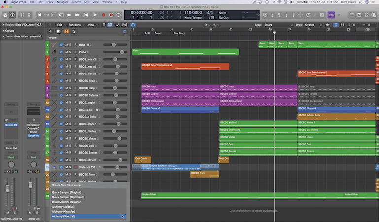 Drag and drop Workflows in Logic Pro 10.5