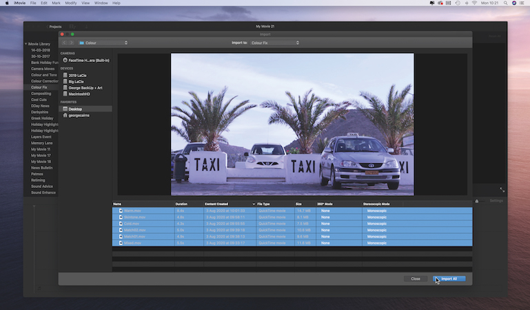Produce true colours by editing footage in iMovie