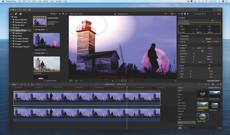 Create creative lighting effects with Final Cut