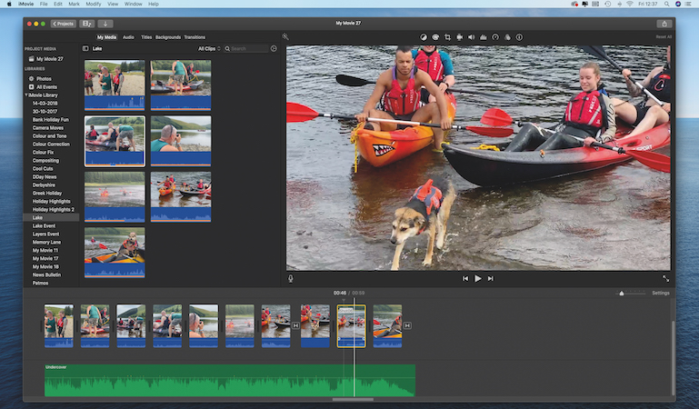 Shoot and edit with different lenses on the fly with iMovie