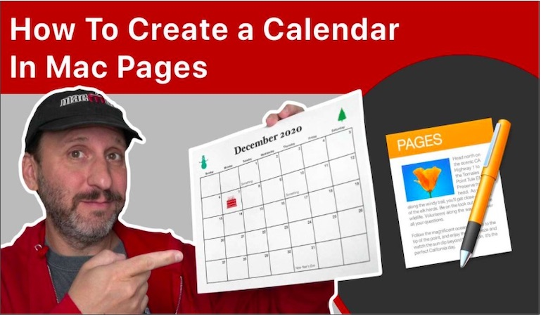 How To Create a Calendar In Mac Pages