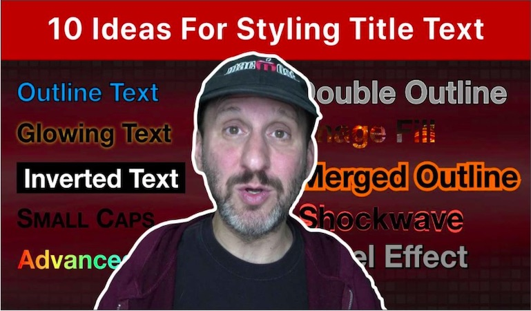 10 Ideas For Styling Title Text In Pages and Keynote