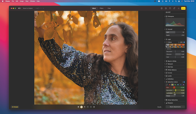 Create more autumnal colours with Photos