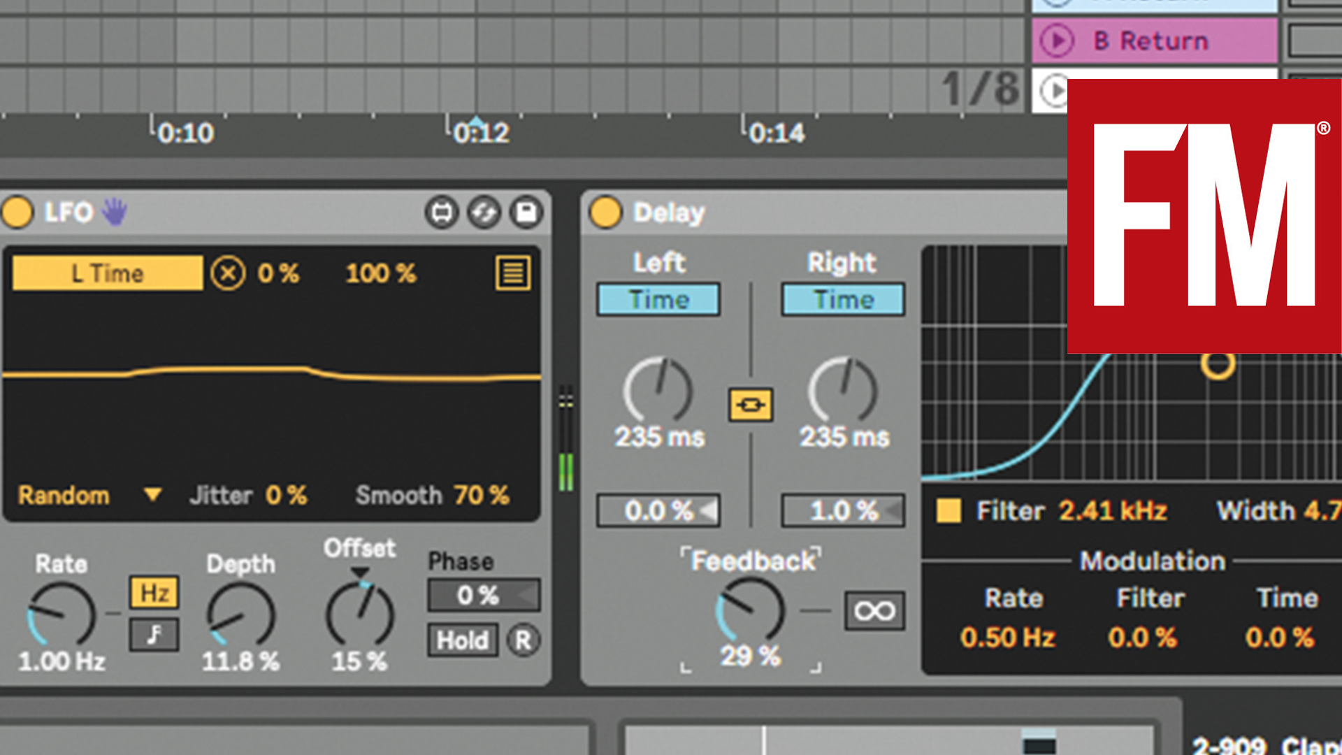 Random effects in Ableton Live