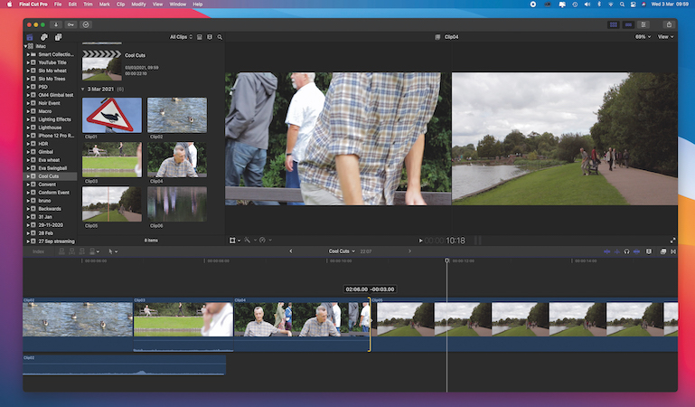 Creative cutting without relying on transitions in Final Cut