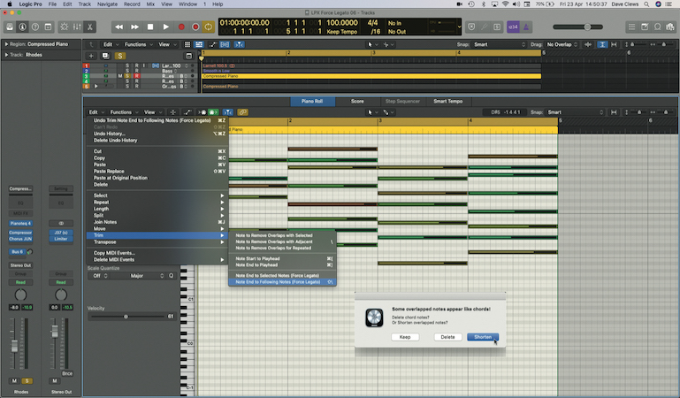 Master auxiliary sends in Logic Pro